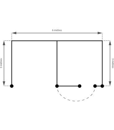 1 Abri + 1 Boxe Monopente