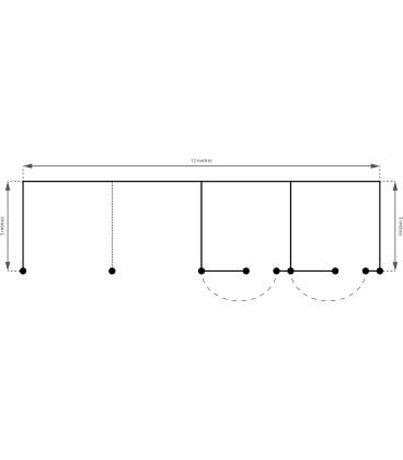2 Abris + 2 Boxes Monopente