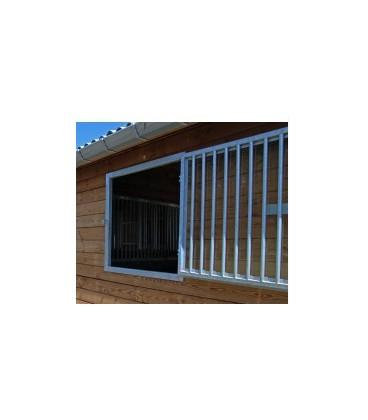 Fenêtre ouvrante galvanisé - Grille et plexi