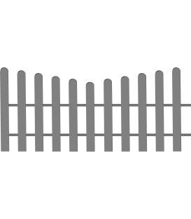 Clôture basse modèle arrondi