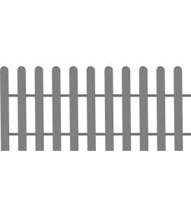 Clôture basse modèle droit